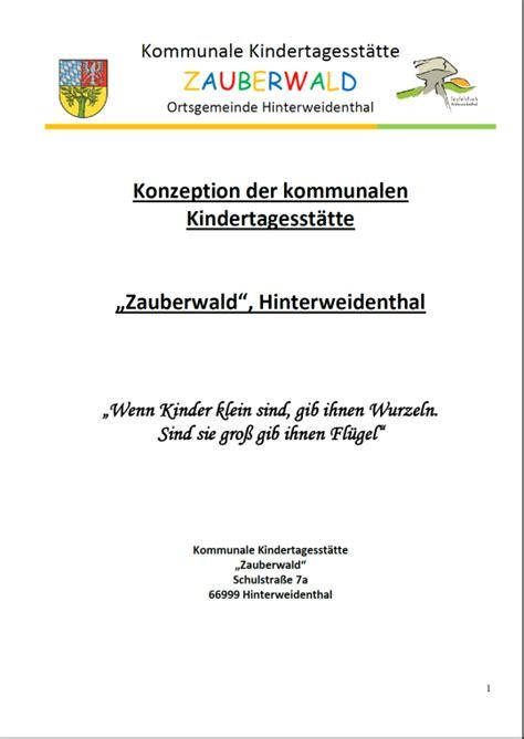 Muster Einladung Teambesprechung Kita Quot Zauberwald Quot Og Hinterweidenthal