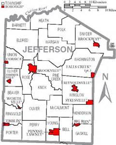 file map of jefferson county pennsylvania with municipal