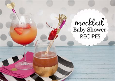 baby shower mocktails cocktails for those who can t - Baby Shower Cocktail Ideas