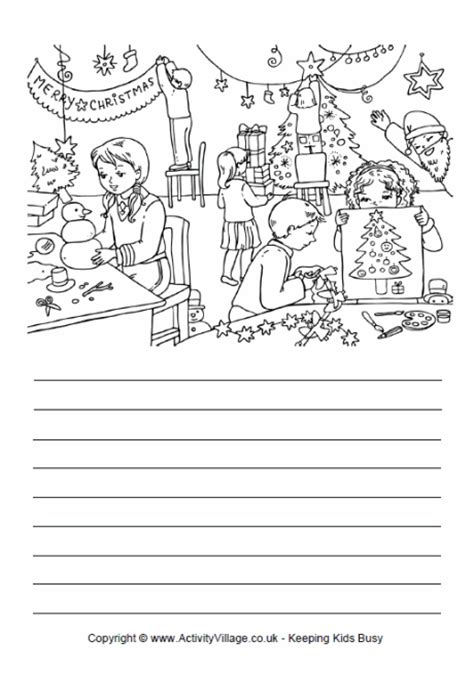 printable christmas story paper christmas crafts story paper