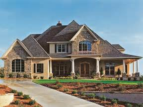 Stone Farmhouse Plans Eplans New American House Plan Stone Accents And Wrap