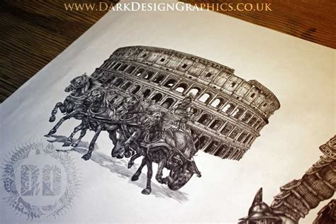 roman gladiator tattoo design dark design graphics