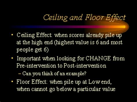 Ceiling And Floor Effect by Ceiling And Floor Effect