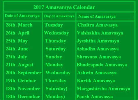 new year 2017 dates 2017 calendar amavasya dates new moon dates 2017