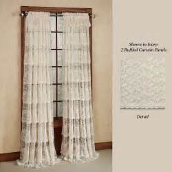 lace curtains bridal lace layered ruffled curtain panels