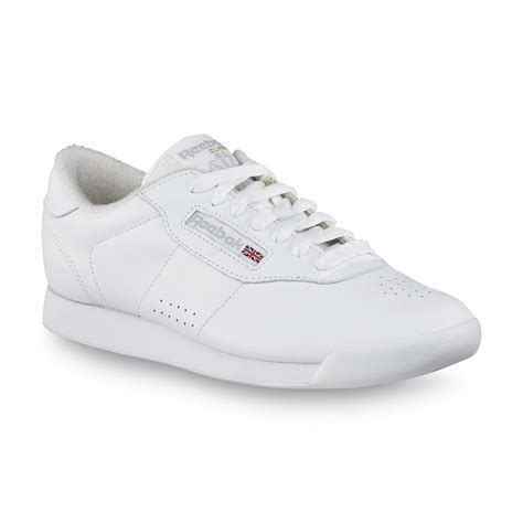 white athletic shoes womens reebok s princess casual athletic shoe white wide