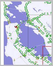 san francisco map traffic bay area traffic map