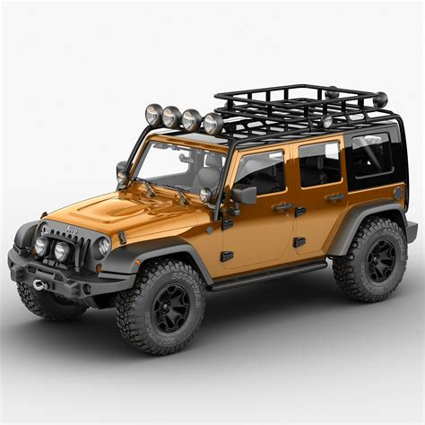 Jeep Expedition Jeep Wrangler Moab Expedition 3d Max