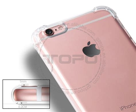 Soft Anti Iphone 6 6g 6s Softcase Anticrack Knock 1 light flash clear transparent air bag anti knock
