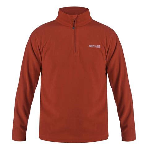fleece zip jackets regatta thompson mens half zip fleece top jacket pullover