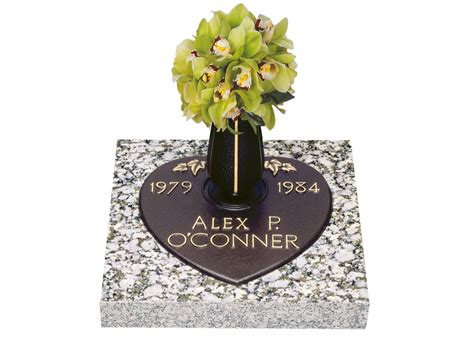 Flat Grave Markers With Vase by Companion Bronze Grave Markers Lovemarkers