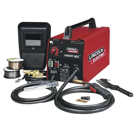 lincoln welder lowes shop lincoln electric 120 volt mig flux cored wire feed