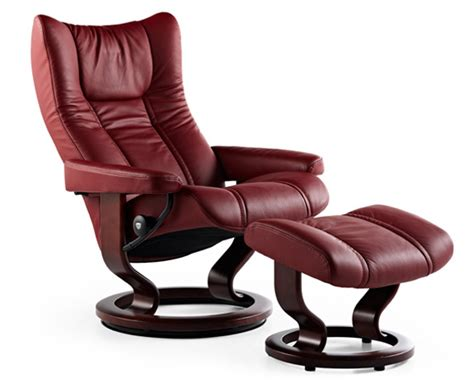 stressless type recliners stressless 174 wing chair and ottoman ippolitos furniture