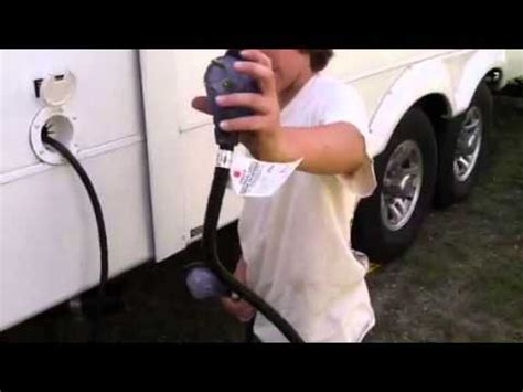 how to in the electrical cord on a 5th wheel rv