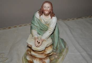 home interior jesus figurines home interiors gifts jesus kneeling in the garden figurine collectors weekly
