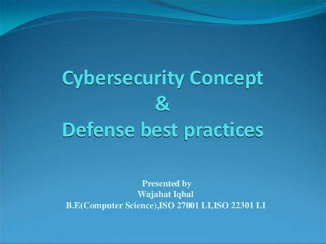 cybersecurity concepts defense best practises