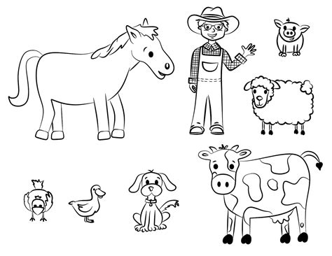 printable farm animal images free baby farm animals coloring pages free best free