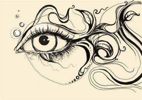 doodle eye eye fish doodle print by olechka