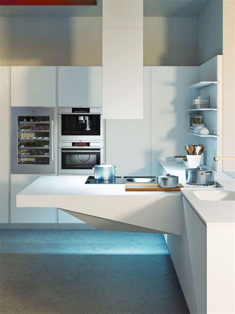 kitchen layout workstation space saving kitchens with versatile cantilevered workstation