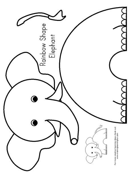 E Is For Elephant Preschool Elephants Pinterest Template Zoos And Craft Printable Craft Templates
