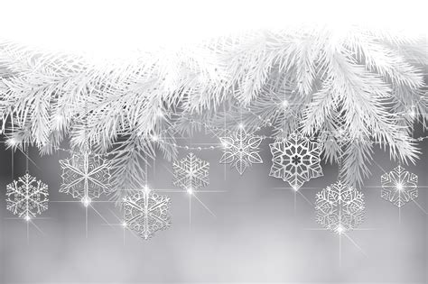 white new year new year snowflakes tree branches wallpaper