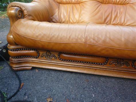 repair split leather sofa italian leather settee for repair pelsall dudley