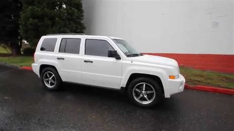 white jeep patriot with white rims 2009 jeep patriot sport white 9d219660 redmond