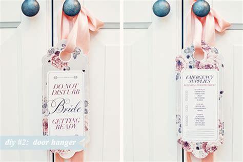 How To Make Door Hangers by Diy 2 Bridal Door Hanger Bloved