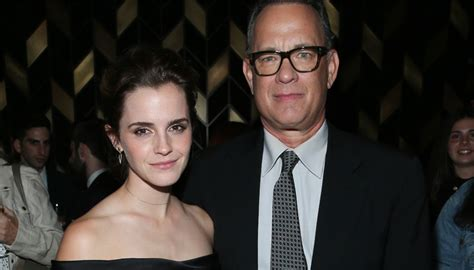 emma watson tom hanks movie emma watson reveals what it s like to work with tom hanks
