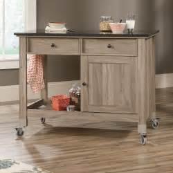 island carts: sauder mobile kitchen island salt oak lowes canada
