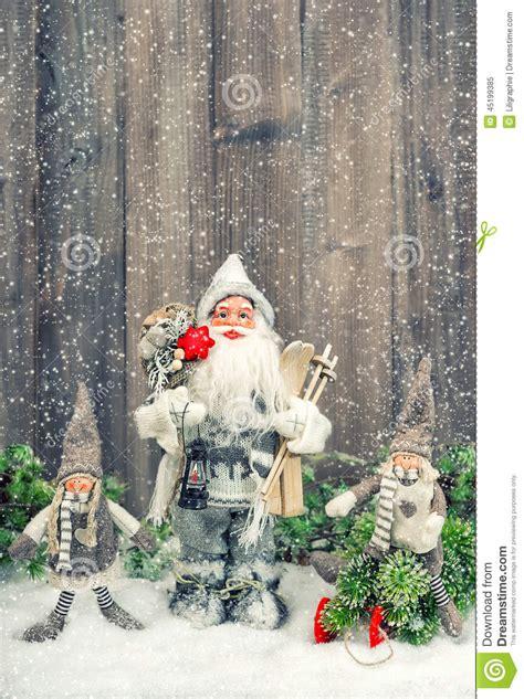 santa ckaus with snow decoration santa claus and happy in snow decoration stock photo image 45199385