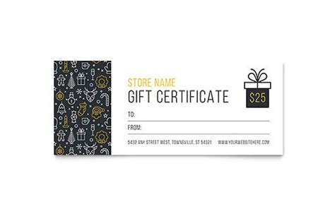 christmas gift certificate template publisher template