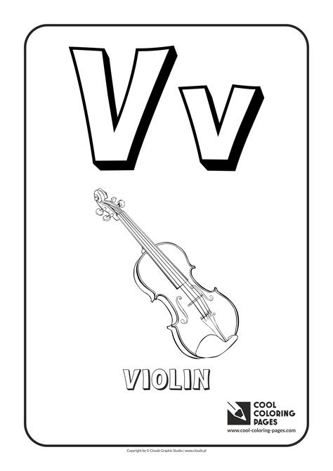 Alphabet V Coloring Pages by String Instrument Coloring Pages Alphabet Coloring