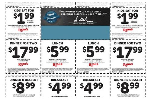 ryan's coupons printable
