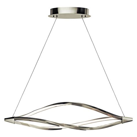 Uttermost Chandeliers Clearance Elan Brushed Nickel Meridian Linear Chandelier Brushed