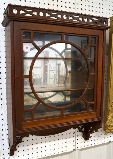 Curio Cabinet Hanging Regency Style Carved Mahogany Hanging Curio Cabinet Height