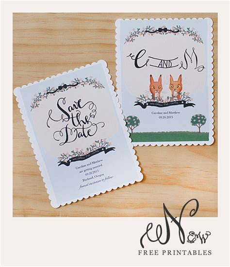 wedding save the date cards free free printable save the date cards