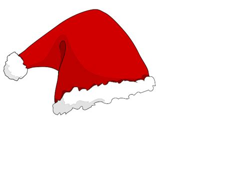 santas hat with transparent background