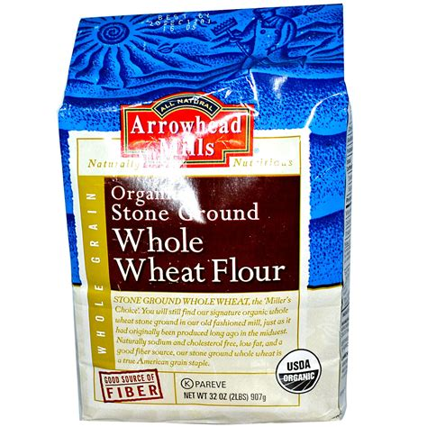 producers organic wheat flour millers stone ground arrowhead mills organic stone ground whole wheat flour