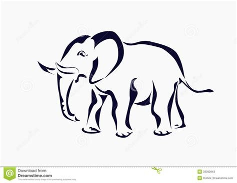 iconic tattoo elephant icon stock photos image 33392843