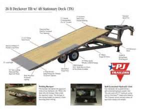 pj trailers gooseneck deckover tilt trailer 26 nationwide trailers pj trailers dealer usa