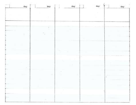 diy weekly planner template 5 day work week diy planner template planner template