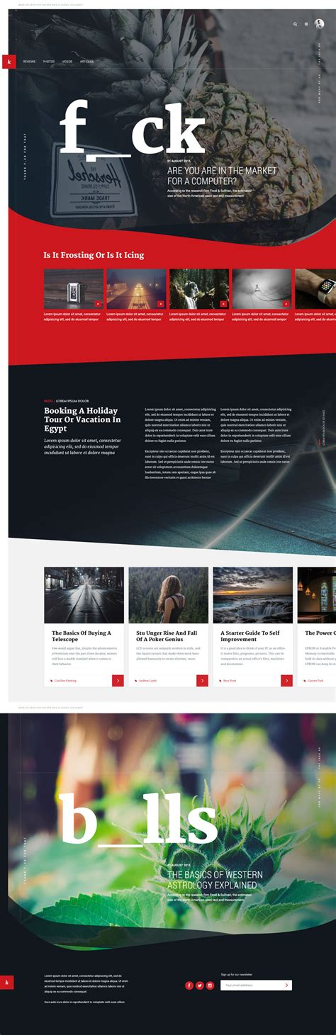 unique layout magazine unique magazine psd website template