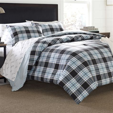 Duvet Comforter by Eddie Bauer Lewis Plaid Comforter And Duvet Set From