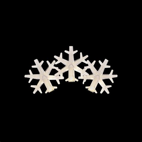 martha stewart led christmas lights warm white crystal c3 martha stewart living 50 light led warm white snowflake light set ty823 1415 the home depot