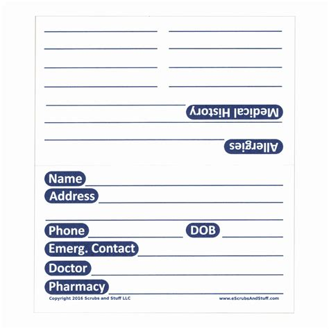 Machine History Card Template by Patient Medication And History Card Pack Of 100