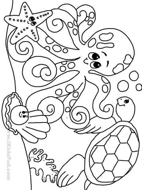 coloring page ocean animals free printable ocean coloring pages for kids coloring
