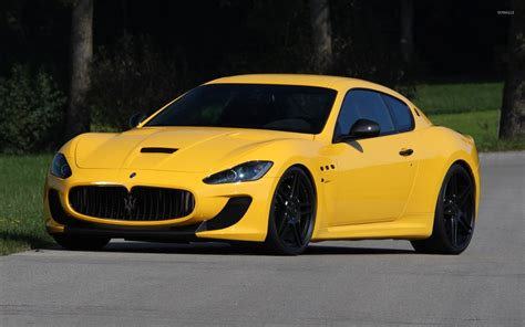 yellow maserati yellow maserati granturismo front side view wallpaper