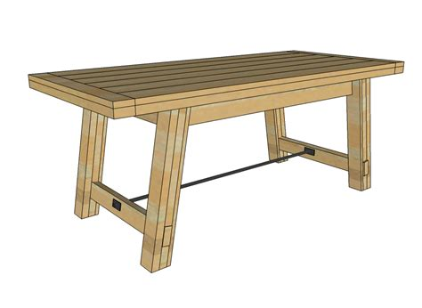 Dining Table Blueprints Dining Table Free Dining Table Bench Plans