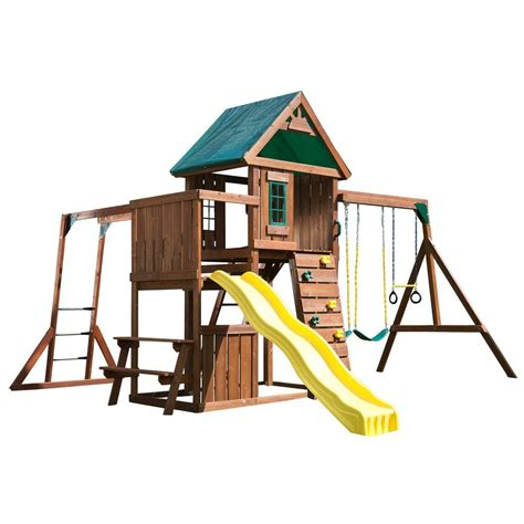 swing n slide swing n slide playsets chesapeake wood complete playset ws
